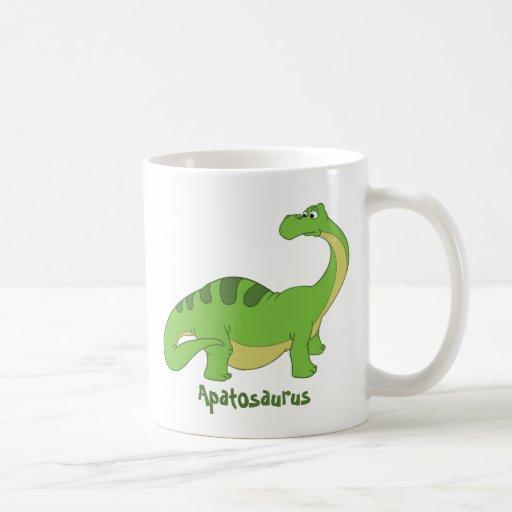 Cartoon Apatosaurus Classic White Coffee Mug