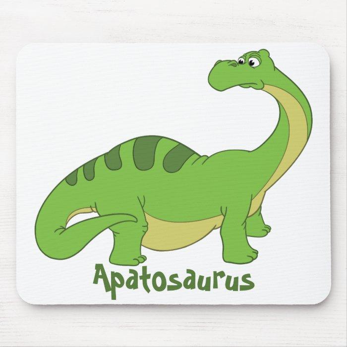 Cartoon Apatosaurus Mouse Pad