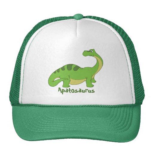 Cartoon Apatosaurus Trucker Hat