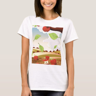Cartoon apple orchard landscape T-Shirt
