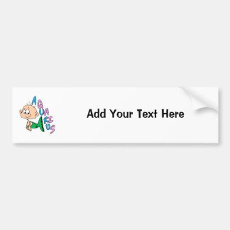Cartoon Aquarius Bumper Sticker