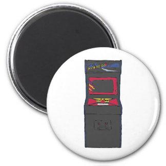 Cartoon Arcade Game - Gamer - Gaming 2 Inch Round Magnet