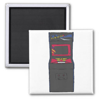 Cartoon Arcade Game - Gamer - Gaming 2 Inch Square Magnet