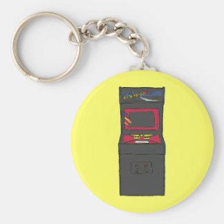 Cartoon Arcade Game - Gamer - Gaming Basic Round Button Keychain