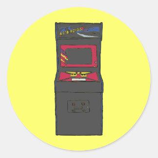 Cartoon Arcade Game - Gamer - Gaming Classic Round Sticker