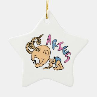 Cartoon Aries Ceramic Ornament
