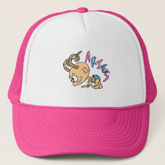 Cartoon Aries Trucker Hat