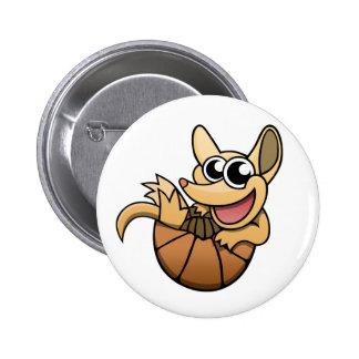 Cartoon Armadillo Button