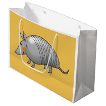 cartoon armadillo large gift bag