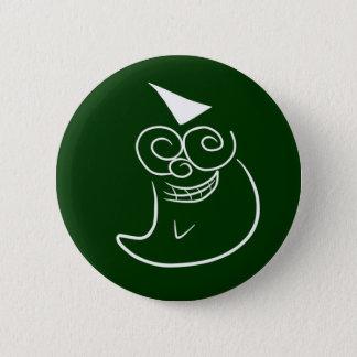 """Cartoon Art """"Mischievous Smiley Face"""" - Chalkboard Button"""