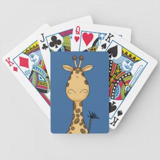 Cartoon Art Wild Zoo Giraffe Drawing Cute Characte Bicycle Playing Cards