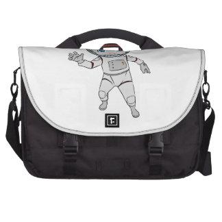 Cartoon Astronaut Waving Computer Bag