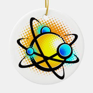 Cartoon Atom Ceramic Ornament