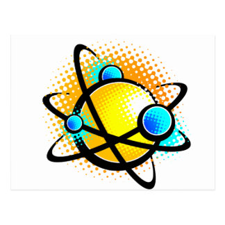 Cartoon Atom Postcard