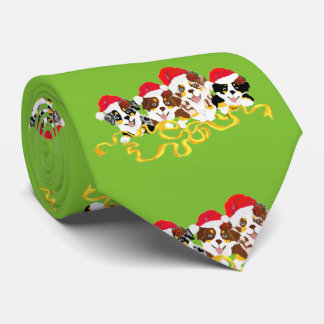 Cartoon Aussie Pups double-sided printing Mens Tie