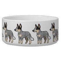 Cartoon Australian Cattle Dog / Kelpie Bowl