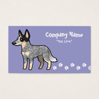Cartoon Australian Cattle Dog / Kelpie Business Card