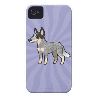 Cartoon Australian Cattle Dog / Kelpie iPhone 4 Case-Mate Cases