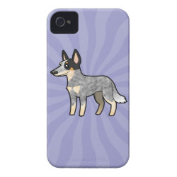 Cartoon Australian Cattle Dog / Kelpie Case-Mate iPhone 4 Case