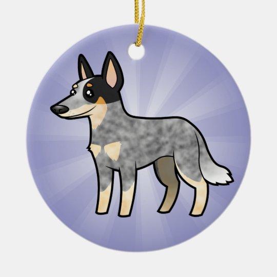 Cartoon Australian Cattle Dog / Kelpie Ceramic Ornament
