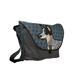 Cartoon Australian Cattle Dog / Kelpie Courier Bag