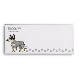 Cartoon Australian Cattle Dog / Kelpie Envelope