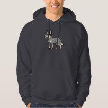 Cartoon Australian Cattle Dog / Kelpie Hoodie