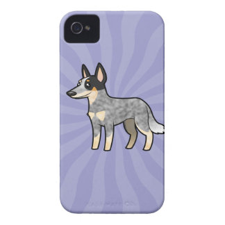 Cartoon Australian Cattle Dog / Kelpie iPhone 4 Case