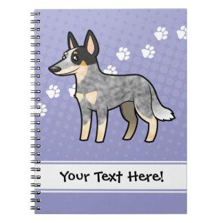 Cartoon Australian Cattle Dog / Kelpie Notebook