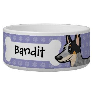 Cartoon Australian Cattle Dog / Kelpie Dog Water Bowls