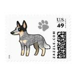 Cartoon Australian Cattle Dog / Kelpie Postage Stamps