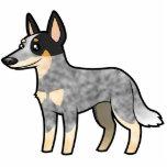 Cartoon Australian Cattle Dog / Kelpie Statuette