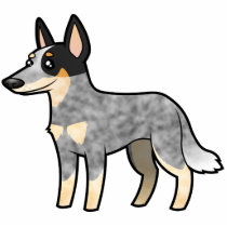 Cartoon Australian Cattle Dog / Kelpie Statuette