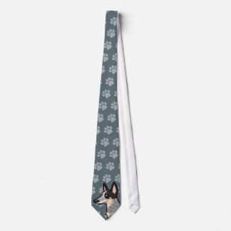 Cartoon Australian Cattle Dog / Kelpie Tie