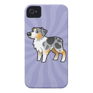 Cartoon Australian Shepherd iPhone 4 Case-Mate Case