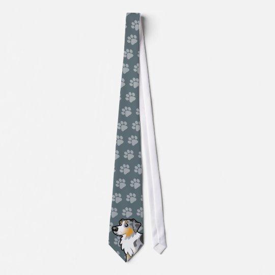 Cartoon Australian Shepherd Neck Tie
