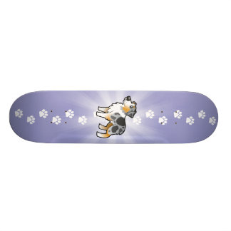 Cartoon Australian Shepherd Skateboard Deck