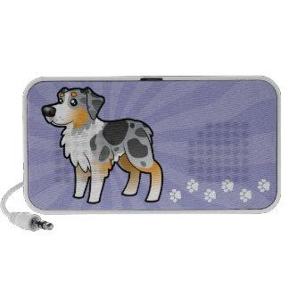 Cartoon Australian Shepherd iPod Speakers
