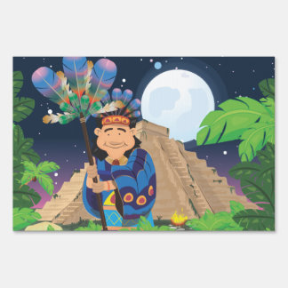 Cartoon Aztek Sign
