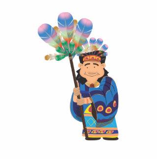 Cartoon Aztek Standing Photo Sculpture