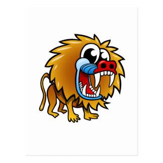 Cartoon Baboon Postcard