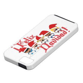 Cartoon Baby Carolers - Feliz Navidad iPhone 5 Cases