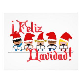 Cartoon Baby Carolers - Feliz Navidad Full Color Flyer