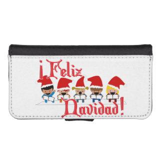 Cartoon Baby Carolers - Feliz Navidad Phone Wallet