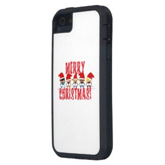 Cartoon Baby Carolers - Merry Christmas iPhone 5 Cases