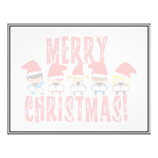 Cartoon Baby Carolers - Merry Christmas Full Color Flyer