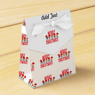 Cartoon Baby Carolers - Merry Christmas Party Favor Boxes