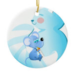 Cartoon Baby cat and foam-ornament Ceramic Ornament