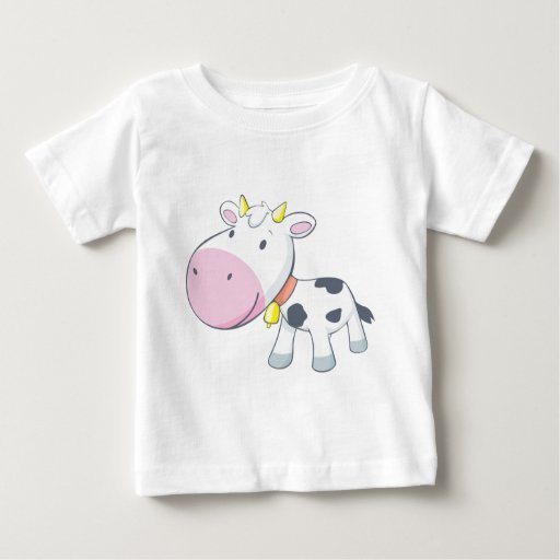Cartoon Baby Cow T Shirt