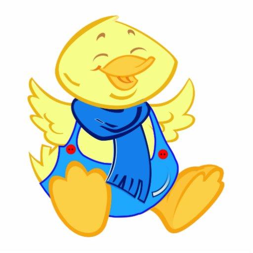 Cartoon baby duck Photo sculpture / magnet / pin | Zazzle